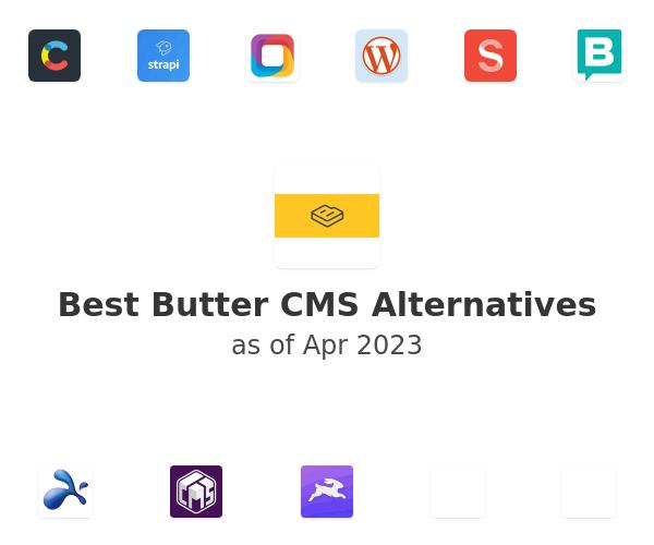 Best Butter CMS Alternatives