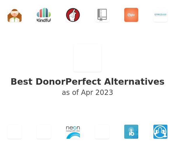 Best DonorPerfect Alternatives