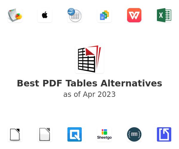 Best PDF Tables Alternatives