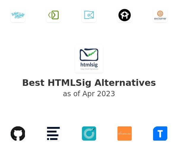 Best HTMLSig Alternatives