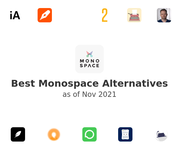 Best Monospace Alternatives