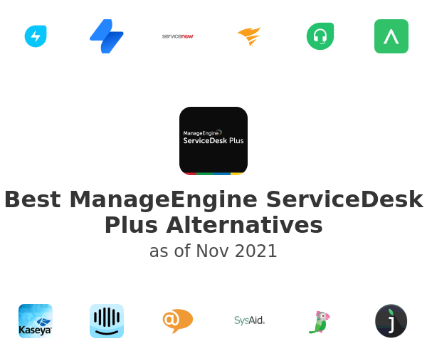 Best ManageEngine ServiceDesk Plus Alternatives
