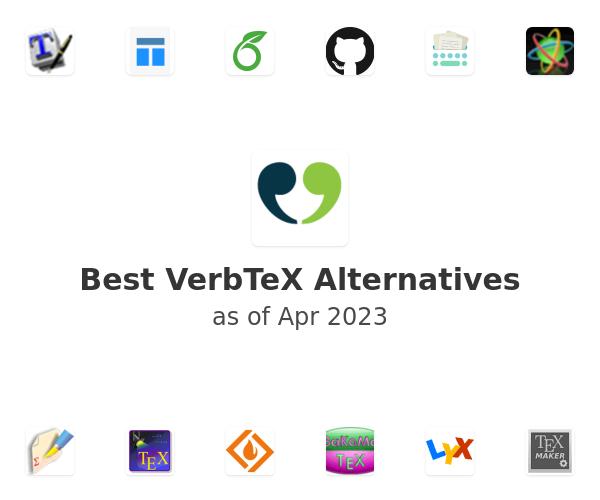 Best VerbTeX LaTeX Editor Alternatives