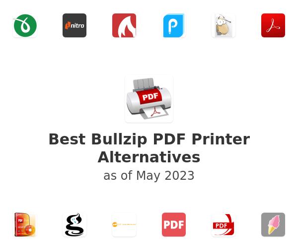 Best Bullzip PDF Printer Alternatives