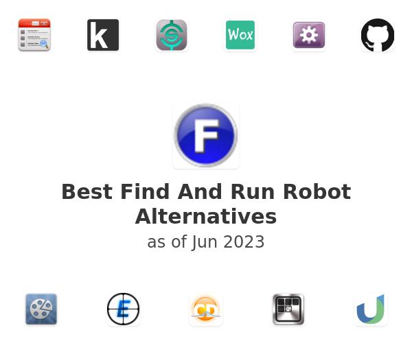 Best Find And Run Robot Alternatives