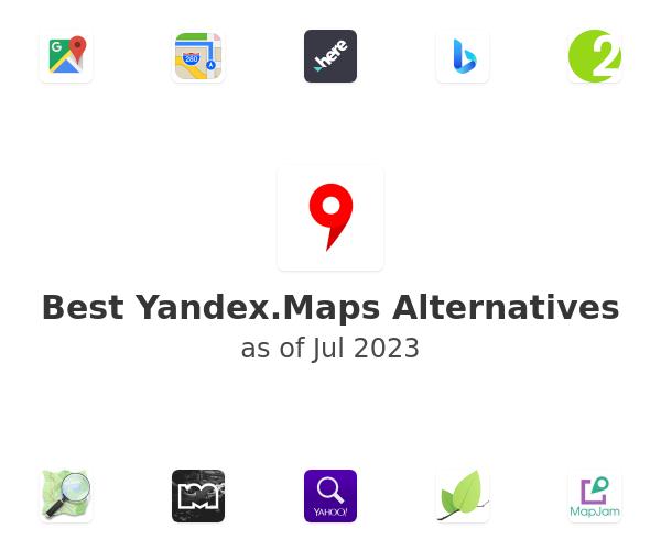 Best Yandex.Maps Alternatives