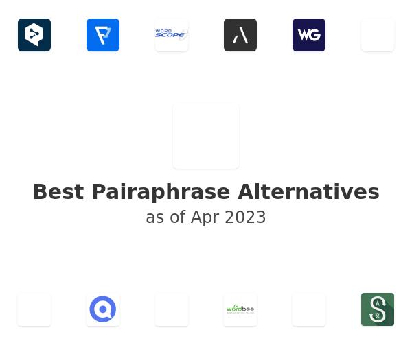 Best Pairaphrase Alternatives