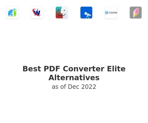 Best PDF Converter Elite Alternatives