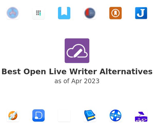 Best Open Live Writer Alternatives