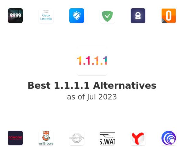 Best 1.1.1.1 Warp Alternatives