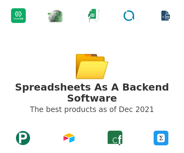 Spreadsheets As A Backend Software