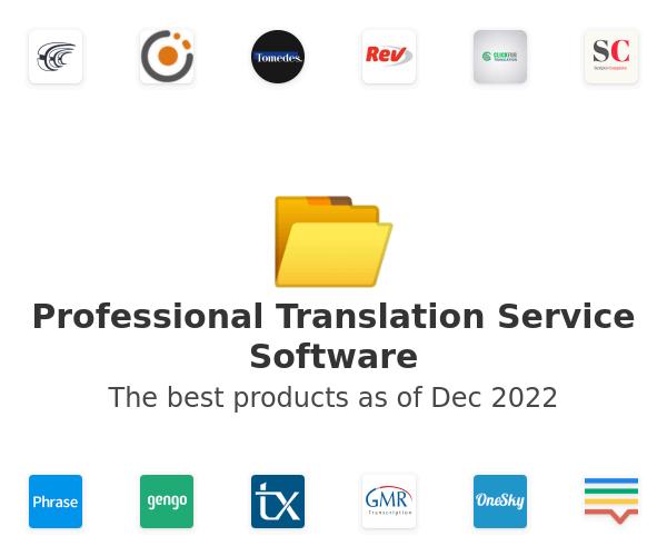 Professional Translation Service Software