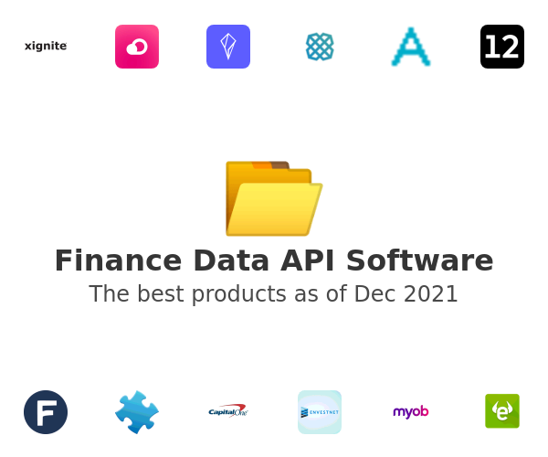 Finance Data API Software