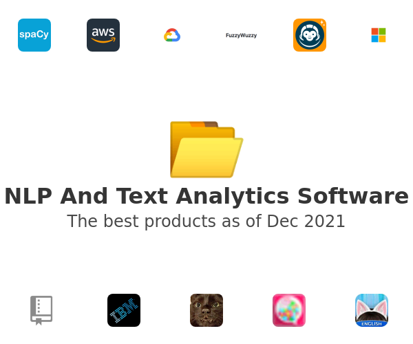 NLP And Text Analytics Software