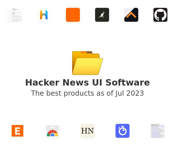 Hacker News UI Software