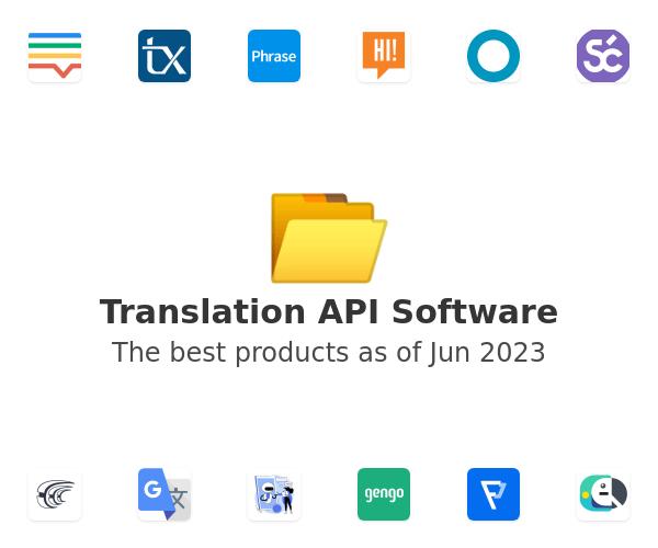 Translation API Software