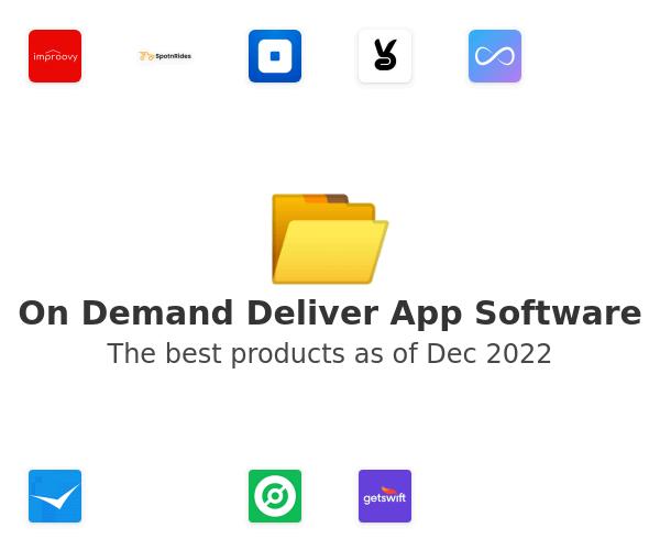 On Demand Deliver App Software
