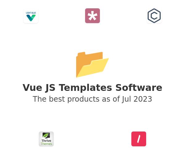 Vue JS Templates Software