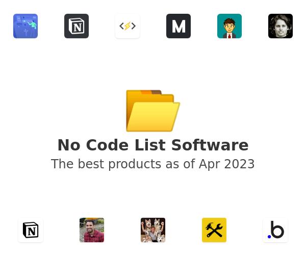 No Code List Software