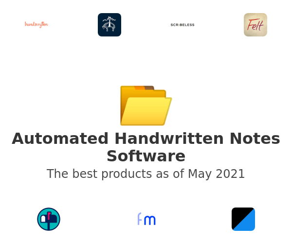 Automated Handwritten Notes Software