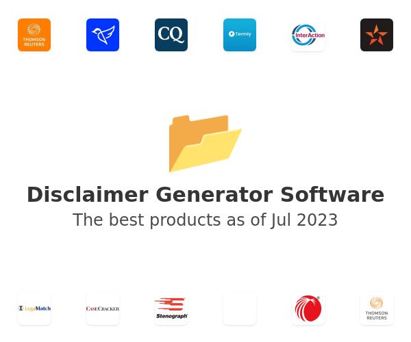 Disclaimer Generator Software