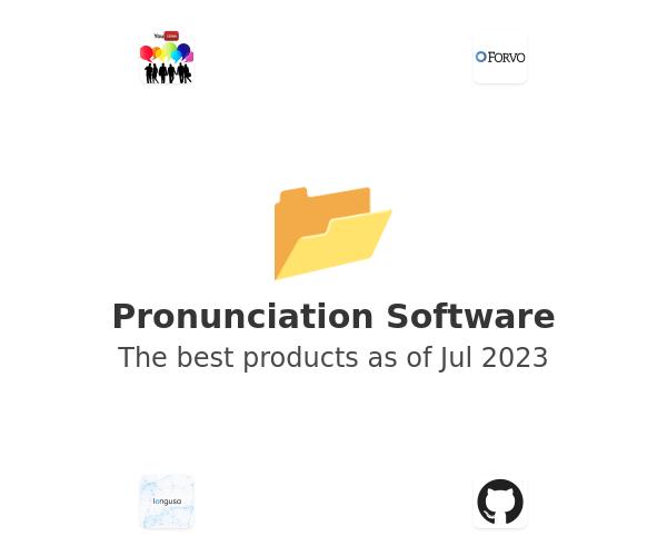 Pronunciation Software