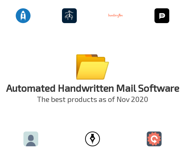 Automated Handwritten Mail Software