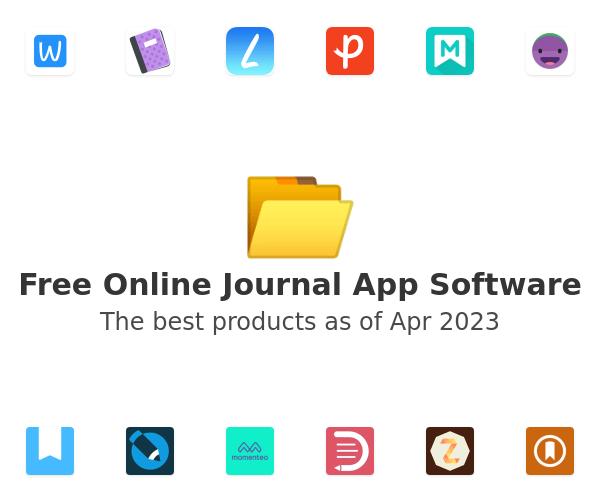 Free Online Journal App Software