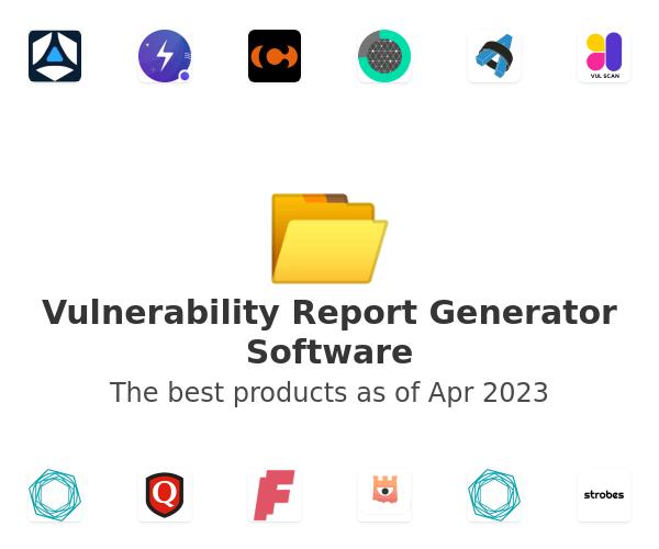 Vulnerability Report Generator Software