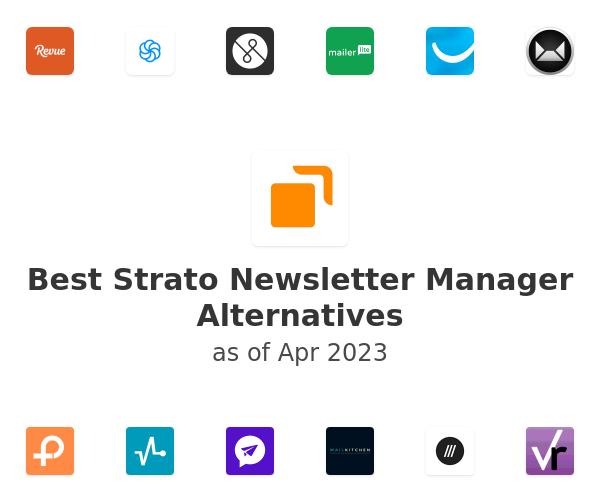 Best Strato Newsletter Manager Alternatives