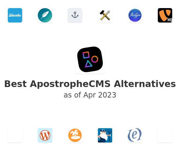 Best ApostropheCMS Alternatives