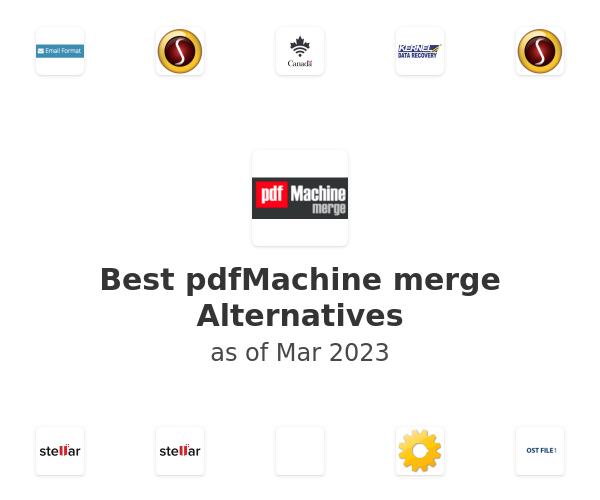 Best pdfMachine merge Alternatives