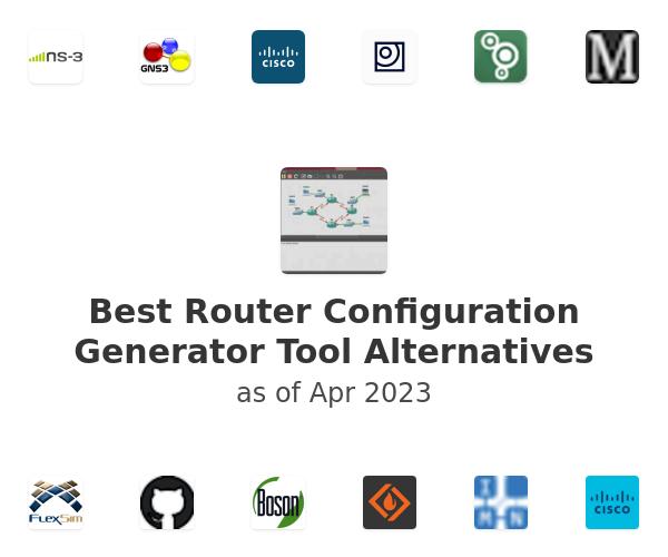 Best Router Configuration Generator Tool Alternatives