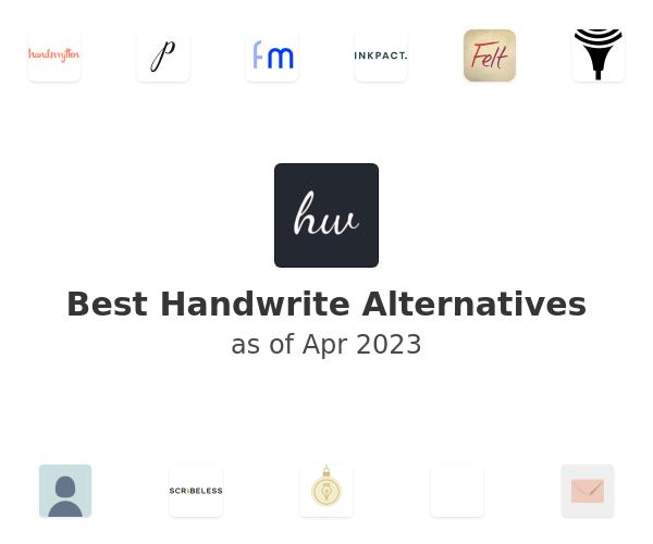 Best Handwrite Alternatives