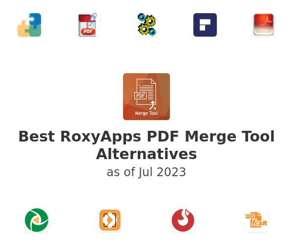 Best RoxyApps PDF Merge Tool Alternatives