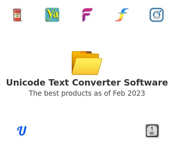 Unicode Text Converter Software