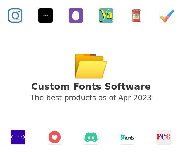 Custom Fonts Software