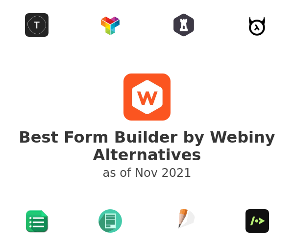 Best Form Builder by Webiny Alternatives