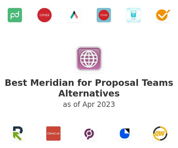Best Meridian for Proposal Teams Alternatives
