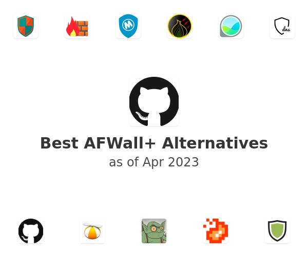 Best AFWall+ Alternatives
