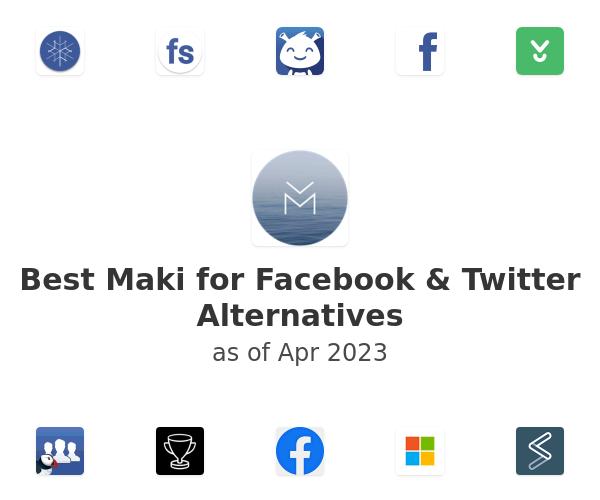 Best Maki for Facebook & Twitter Alternatives