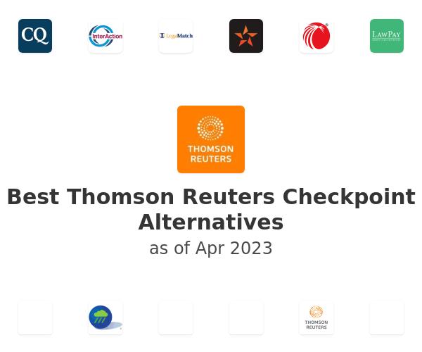 Best Thomson Reuters Checkpoint Alternatives