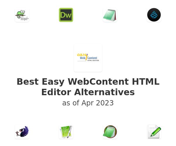 Best Easy WebContent HTML Editor Alternatives