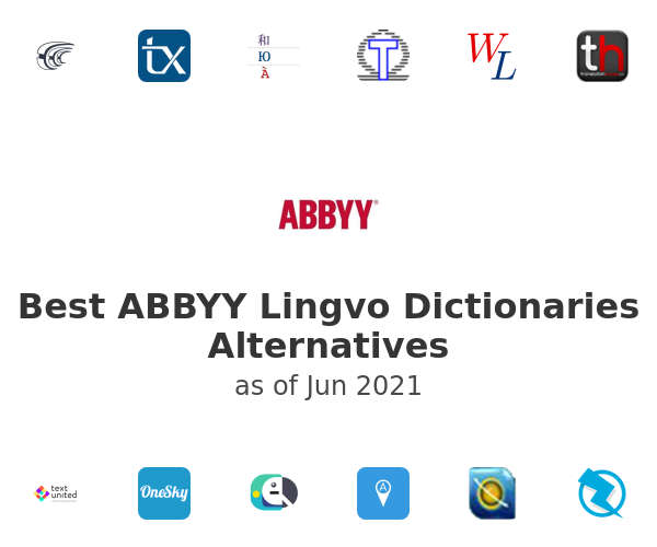Best ABBYY Lingvo Dictionaries Alternatives