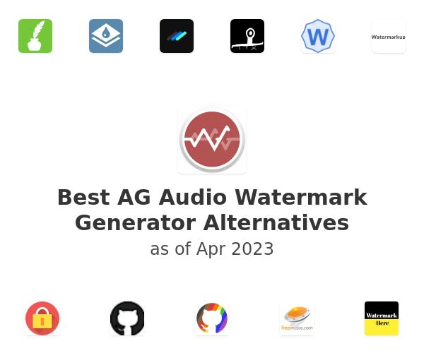 Best AG Audio Watermark Generator Alternatives