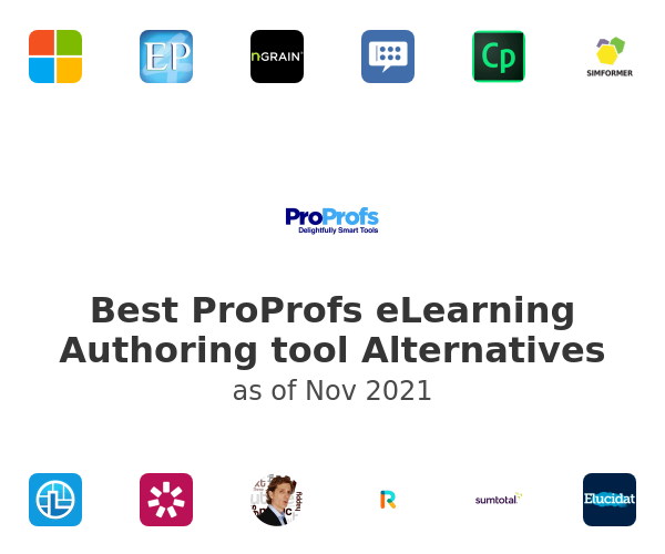 Best ProProfs eLearning Authoring tool Alternatives
