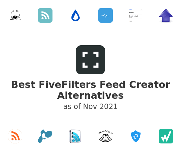 Best FiveFilters Feed Creator Alternatives
