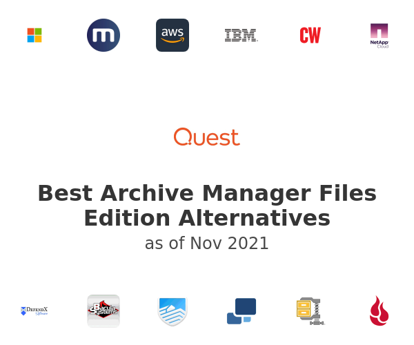 Best Archive Manager Files Edition Alternatives