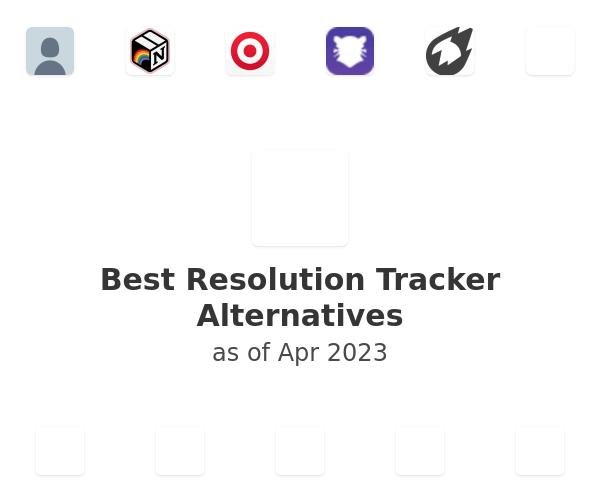 Best Resolution Tracker Alternatives