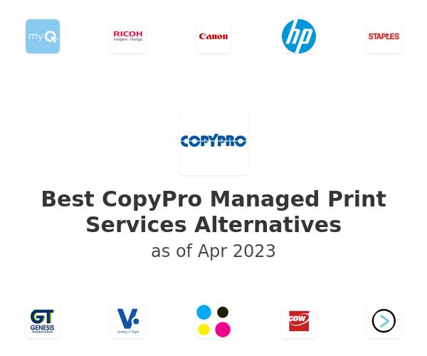Best CopyPro Managed Print Services Alternatives